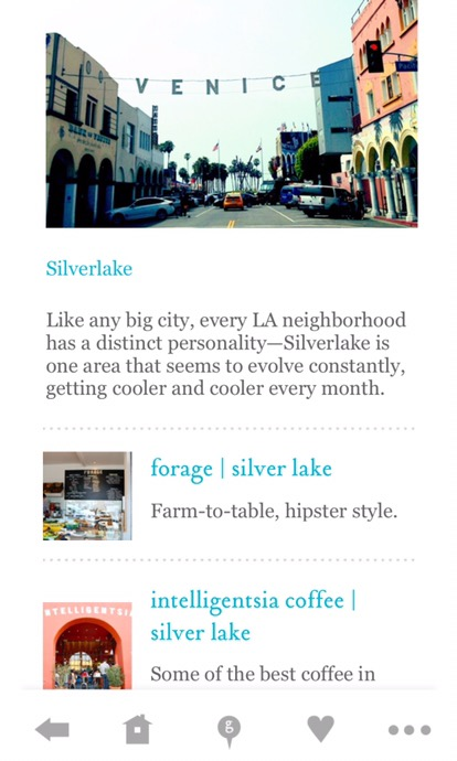 a screenshot of the Goop City Guides tribute to Silver Lake. (For what it's worth, i've seen the neighborhood spelled both Silver Lake and silverlake. Take your pick.)